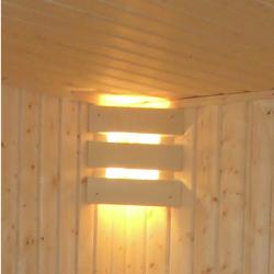 Sauna hoeklamp 3-lats
